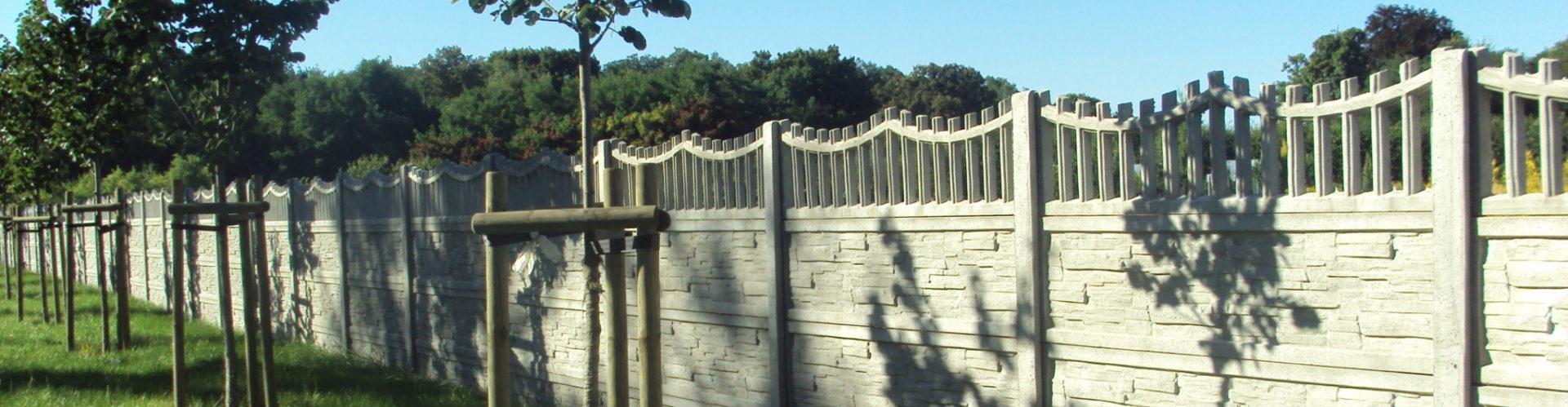 Betonzäune betonzäune und betonsockel top fence hurtownia ogrodzeniowa