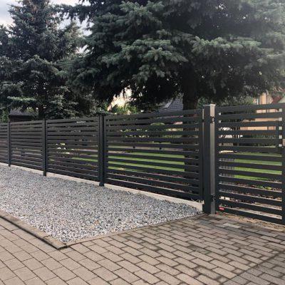 Ogrodzenie posesji w Pile przy ulicy Dąbrowskiego, KONSPORT model P64