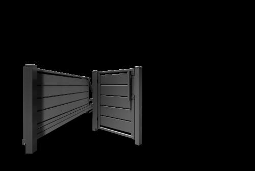 Ogrodzenia poziome - trawertyn